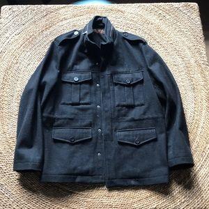 Perry Ellis Military wool jacket